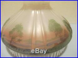 Aladdin Lamp 601S Cabin Scene Shade for kerosene or oil