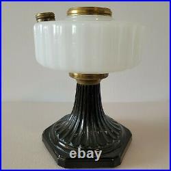 Aladdin Lamp Base White Moonstone and Black Corinthian SUPER NICE
