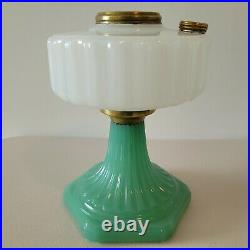 Aladdin Lamp Base White Moonstone and Green Corinthian SUPER NICE