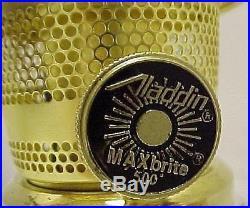 Aladdin Lamp Heritage Solid Brass Table B2301 Kerosene Oil Alladin Aladin