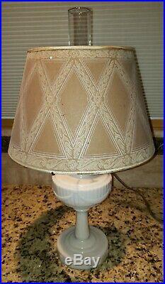 Aladdin Lamp Lincoln Drape Lamp with 14 Original Aladdin Shade. Electric burner