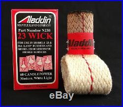 Aladdin Lamp Model 23a Heel-less Restoration Kit Chimney, Mantle, Wick & More
