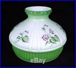 Aladdin Lamp Shade Green Violets 10 Model 12 Student Kerosene Oil Glass New