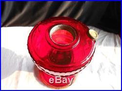 Aladdin Lamp Short Lincoln Drape SLD Model B-62 Red Ruby Crystal 1939