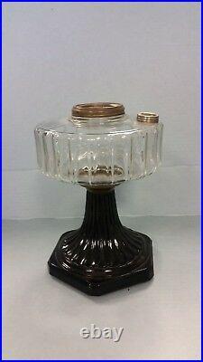 Aladdin Lamp Vintage Corinthian B-104 Clear Bowl with Black Base 1935-1936