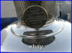 Aladdin Lamp Wall Mount Railroad Model 12 Burner London England & Match Chimney