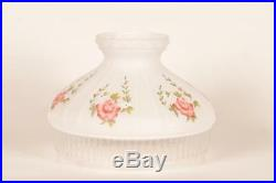 Aladdin Lamps 10 Glass Frosted Model 12 Frosted Glass Shade with Roses #N602