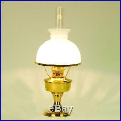Aladdin Lamps Brass Heritage Lamp with White Student Shade, #B2301-540, Kerosene