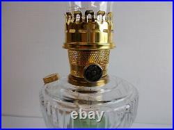 Aladdin Lamps Kerosene 2003 Clear/Moonstone Lincoln Drape Table Lamp