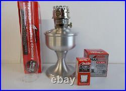 Aladdin Lamps Kerosene Brushed Aluminum Table Lamp With Nickel Burner #A2310