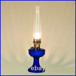 Aladdin Lamps Kerosene Cobalt Lincoln Drape with Nickel Hardware #100007381