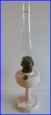 Aladdin Lamps Tall Lincoln Drape Lamp in Alacite with Model A Burner