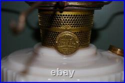 Aladdin Lincoln Drape Oil Lamp in Alacite Model B Burner, Shade Bracket/Chimney