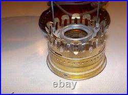 Aladdin Mantle Kerosene Oil Amber Glass Lincoln Drape Lamp