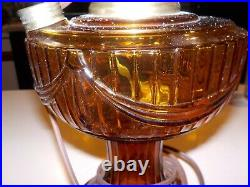 Aladdin Mantle Kerosene Oil Amber Glass Lincoln Drape Lamp