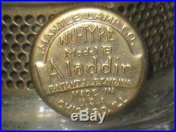 Aladdin Mantle Lamp 1941 Washington Drape Clear Nu Type Model B Kerosene Burner