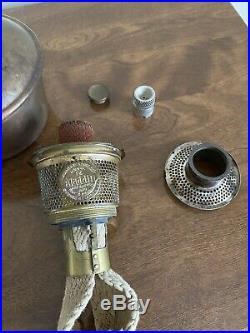 Aladdin Mantle Oil Kerosene 10.25 Model 1248 Ebony SAND Art Craft Vase Lamp