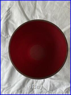 Aladdin Mantle Oil Kerosene 10.25 Red Glass Vase Lamp Model 12