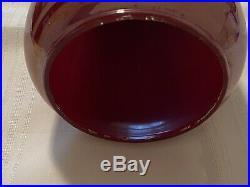 Aladdin Mantle Oil Kerosene 12 Bengal Red Model 1242 Vase Lamp