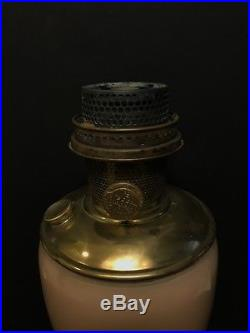 Aladdin Mantle Oil Model 12 Peach Tan Alpha Art Craft Vase Lamp 10.25