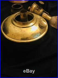 Aladdin Mantle Oil Model 12 Peach Tan Venetian Art Craft Vase Lamp 10.25