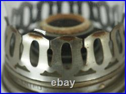 Aladdin Metal oil Lamp Nickle #11 lamp Kerosene Oil Burner Heeless chimney