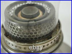 Aladdin Metal oil Lamp Nickle #12 table lamp Kerosene Oil Burner Lox-on chimney