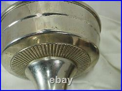 Aladdin Metal oil table Lamp #12 Kerosene Oil Burner Lox-on chimney Nickle color