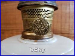 Aladdin Milk Glass Oil Lamp Nu Type Model B Burner 100% original