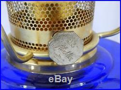 Aladdin Mod 23 Short Lincoln Drapes Cobalt Blue Oil Lamp Blue Meadow Shade JL