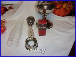 Aladdin Model# 11 Kerosene Lamp Double Nickel Plated