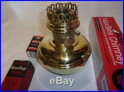 Aladdin Model # 11 Kerosene Lamp In Original Brass Condition