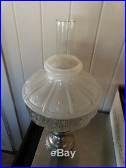 Aladdin Model 11 Nickel Oil Kerosene Lamp & 501-11 Shade