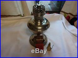 Aladdin Model # 11 Restored Nickel Kerosene Lamp