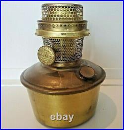 Aladdin Model 12 Brass drop in font & burner kerosene oil Lamp old part antique