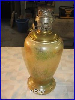 Aladdin Model #12 Variegated Verde Vase Lamp #1240