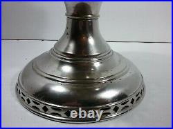 Aladdin Model 2 Nickel Plated Kerosene Mantle Lamp c 1910