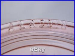 Aladdin Model 23 Short Lincoln Drape Pink Glass Oil Lamp(76c5)