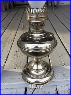 Aladdin Model #5 Antique Kerosene Table Lamp Expertly Converted To Electric