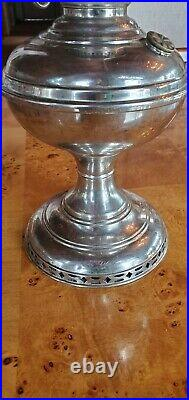 Aladdin Model #5 Nickel Plate Kerosene Oil Lamp vintage