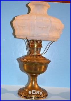 Aladdin Model 8 Table Lamp 401 Shade #8 Flame Spreader & Burner 1919 Art Nouveau