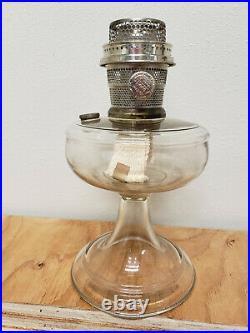 Aladdin Model A Clear One Piece Venetian Kerosene Lamp With Unburned Nickel Burner