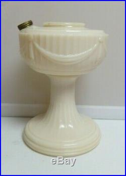 Aladdin Model B-60 Alacite Short Lincoln Drape MINT Oil Kerosene Table Lamp