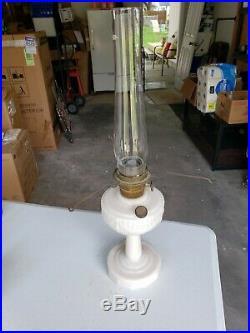 Aladdin Model B Alacite Short Lincoln Drape Oil Kerosene Table Lamp new Chimney
