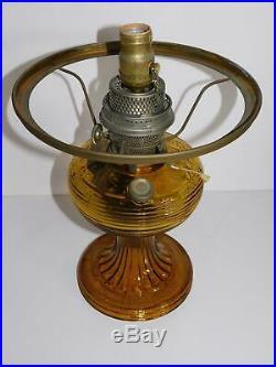 Aladdin Model B Amber Beehive Kerosene Oil Lamp