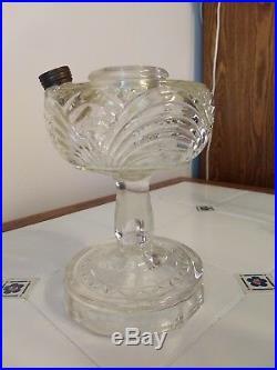 Aladdin Model B Clear Glass Washington Drape Kerosene Lamp Burner & Chimney