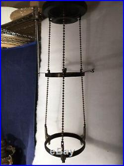 Aladdin Model B Inside Chain Hanging Lamp Frame=1936-1937=excellent
