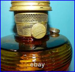 Aladdin Model B Oil Kerosene Lamp Amber Beehive