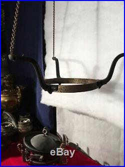 Aladdin Model B Outside Chain Hanging Lamp Frame=1930s