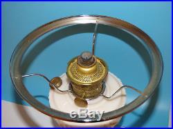 Aladdin Model B Tall Lincoln Drape Kerosene Table Lamp Alacide Milk Glass 1940's